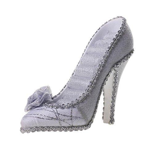Schmuckständer, High Heel Schuh Form, Schmuck Display Regal, Aufbewahrungsbox, Für Schmuck/Ketten/Ringe - Silber, 5,91 x 4.72inch