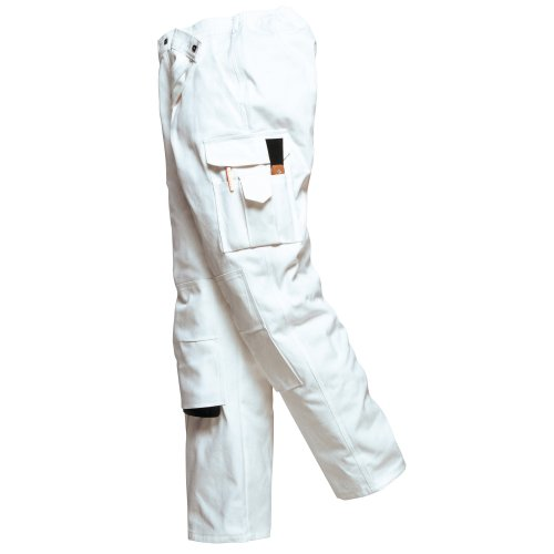 Portwest Unisex Painters Trouser/Workwear (S x Regular) (White)