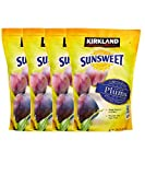 Kirkland Signature Sunsweet Whole Dried Plums, 3.5 lbs Per Pack, Good Source of Fiber (Pack of 4)