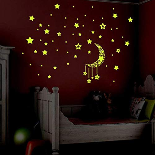 Removable Wall Sticker Clearance Sale, Libermall Kids Bedroom A Set Fluorescent Ceiling Wall Decal Glow in The Dark Stars Wall Stickers, Best for Children's Room Romantic Art Decor Wallpaper