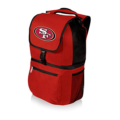 NFL Zuma Insulated Cooler Backpack, Red, San Francisco 49ers