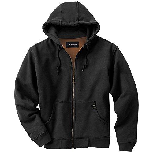 DRI Duck Men's Crossfire Heavy Duty Oxford Jacket (Black, Large)