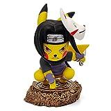 Itachi Cosplay Pikachu Action Figure Naruto Cosplay Pokemon Figure Anime Toy Collectibles Model Gift (Itachi)
