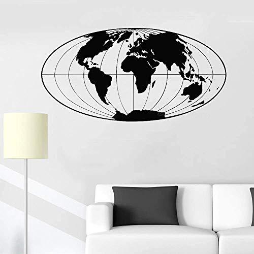 Mapa Del Mundo Etiqueta De La Pared Decoración De La Oficina Tierra Planeta Tierra Globo Mapa Del Mundo Etiqueta De La Pared Decoración Del Hogar Sala De Estar Calcomanía52X105Cm