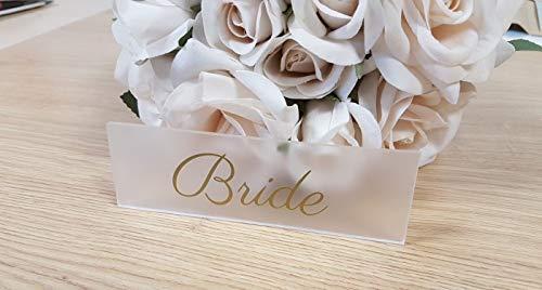 Frosted Acryl Perspex plaats naamkaarten keuze van lettertype en kleuren bruiloft gunsten houder