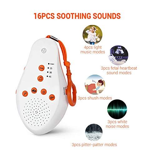 Baby wit lawaai machine slingeren ontwerp stem sensor 16 stemmen rustgevende 4 stuks licht muziek modus 1800 mah babyverzorging