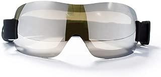 DPLUSドッグゴーグルサングラス(大型犬用)ペットUVサングラスアイウェアプロテクション防水トラベル、スキー、曇り止めシルバー
