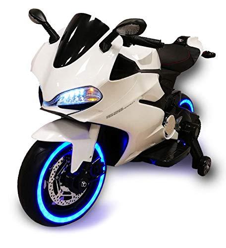 babyfun Moto Elettrica per Bambini 12V Strada Bianca