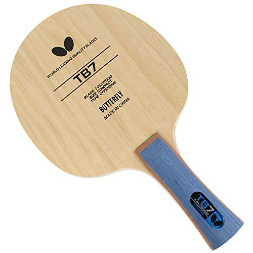 Butterfly TB7 FL Table Tennis Blade - 7-ply All-Wood Blade - Fast Attacking Blade - Professional Table Tennis Blade - Flared Handle - Great for All-Out Attackers
