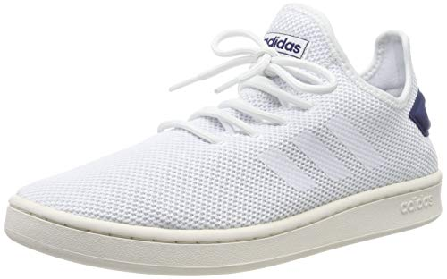 adidas Mens Court Adapt Sneaker, Cloud White/Cloud White/Dark Blue, 40 EU