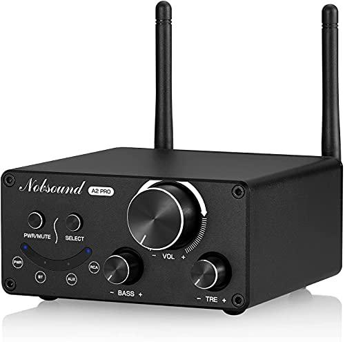 Nobsound A2 HiFi Stereo Bluetooth 4.2 Classe D Amplificatore Audio Home Amplificatore APTX-LL 160W + amplificatore di potenza 160W