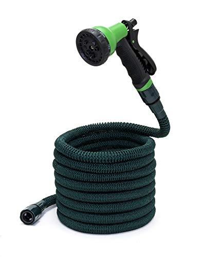 Somera Gartenschlauch flexibel mit Gartenbrause, Dehnbarer Bewässerungsschlauch mit Anschluss für Wasserhahn