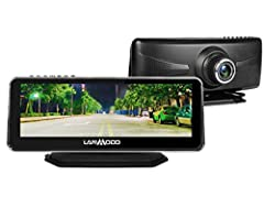 """🚘【8.2"""" Full COLOR IMAGE & 1920x1080 resolution】LANMODO affordable car night vision camera is equipped with 8.2'' IPS screen and presents 1080P HD full-color image even at night, capturing real road conditions clearly and quickly when driving. Lanmodo..."""