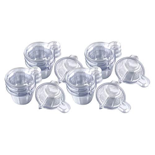 #N/A 100Pack Kunststoff Einweg Urin Sammlung Tassen, einfach zu Sammeln Urin Probe für Ovulation Test Container (40ml/klar)