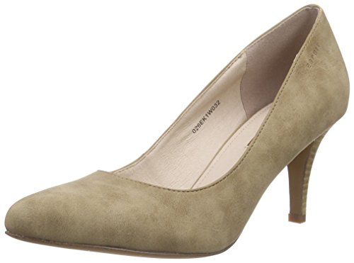 Esprit Rossy Pump, Chaussures à Talons-Avant du Pieds Couvert Femme, Beige 241 Taupe 2, 36 EU