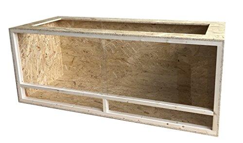 Elmato 12025 Holz Terrarium Holzterrarium, Terrarien für Schildkröten 150x60x60cm, komplett aufgebaut