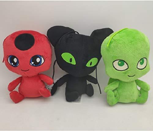 changshuo Stofftier 3 Stück / Los 15 cm Marienkäfer Plüsch Anhänger Spielzeug Plagg Und Cat Noir Bug Adrien Marinette Puppen