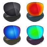 Mryok 4 paia di lenti polarizzate di ricambio per Oakley Garage Rock Sunglass - Stealth nero/rosso fuoco/blu scuro/verde smeraldo