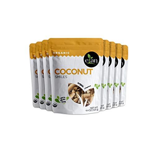 Elan Organic Coconut Smiles 8 Pack, 35.2 Ounce