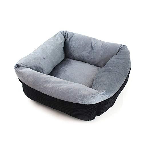 Bett für Katzen und kleine Hunde, Rundes Ultra Weicher Plüsch Kuschelkissen für Welpen, Katze Hunde Atmungsaktive waschbar Sofa, Bett für kleine und mittelgroße Hunde und Katzen,Blau