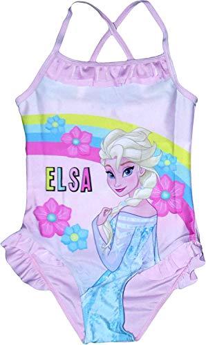 Eiskönigin Frozen völlig unverfroren Badeanzug rosa oder blau 2 3 4 5 6 8 Jahre 104 110 116 122 128 134 cm (rosa, 104/110)