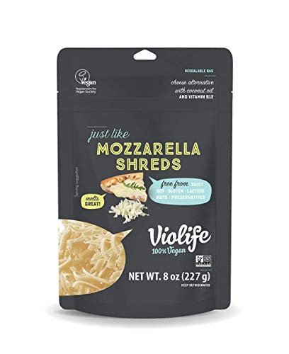 Violife, Just Like Mozzarella Cheese Shreds, Vegan, Dairy Free & NON-GMO, 8 Oz. Packages, (Pack of 8)