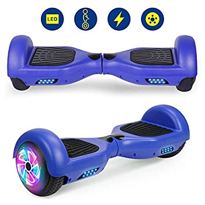 """YHR 6.5"""" Hoverboard LED Lights with Bluetooth Speaker and Smart Self Balancing Hoverboard and Two-Flashing Wheel with UL2272 Certified for Kids and Adults"""