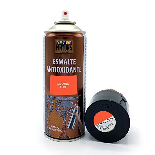 Pintura Spray Naranja 400ml ANTIOXIDANTE para metal / anti oxido para metales, hierro, aluminio, acero / Para exteriores - interior aplicación sin imprimacion