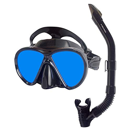 Head Cobalt Ice Mirrored Lens Mask and Snorkel Combo