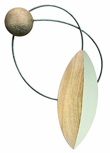 Aroa XXI Iman Pilat Abrazadera Decorativa para Cortinas, Madera, Crema, 10x4x1 cm