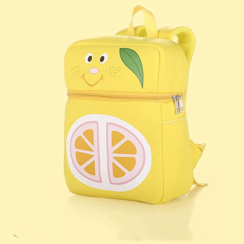WWWL Kinderrucksack Kinder Cartoon Schule Tasche Kindergarten Rucksack Kleinkind süße Rucksack Keks Zitrone Erdbeere Tasche 03