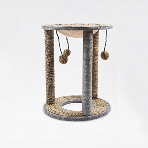 animal Chat Escalade Kader Sisal Chat Litière Chambre Chat Arbre Chat Jouet Chat Griffe Plaque Chat Gratter Beitrag Chat Tube Creux Taille Chat Plate-forme (Farbe : 2)
