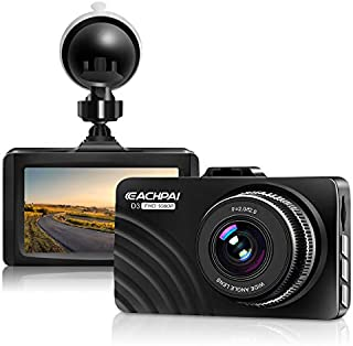 "Dash Cam 1080P Full HD Car Dashboard Camera Recorder for Cars with Super Night Vision, 3"" LCD Screen DVR Dashcam, Parking Monitor, G-Sensor, WDR, Motion Detection"