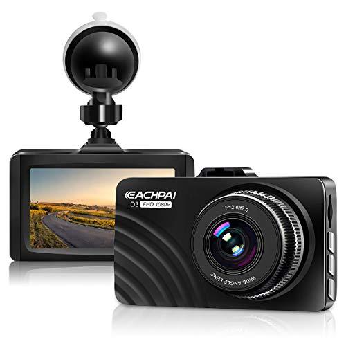 Dash Cam 1080P Full HD coche Dashboard cámara grabadora para coches con visión nocturna estupenda, pantalla LCD DVR Dashcam de 3 pulgadas, monitor de estacionamiento, sensor G, WDR, detección de movimiento