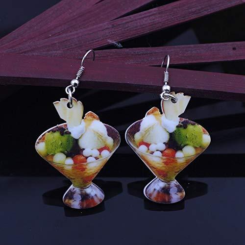 Boucles d'Oreilles 1 paire de bonbons de glace alimentaire fruits boucles d'oreilles coloré mignon belle impression acrylique conception été style pour filles bijoux