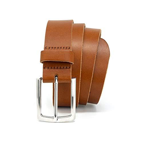 GREEN YARD Ledergürtel aus weichem Büffelleder exklusiver Gürtel in cognac für Damen & Herren aus EINEM ST LEDER, Cognac, 105 cm Bundweite = 120 cm Gesamtlänge