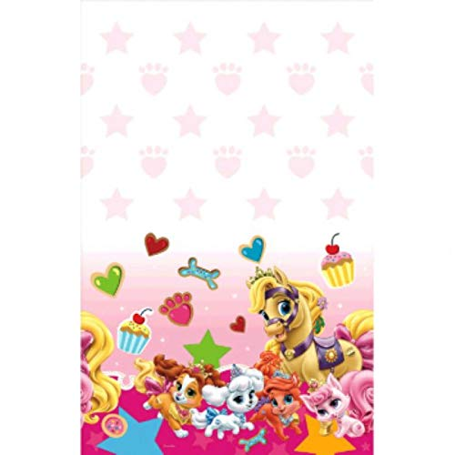 Amscan 571581 Plastic Table Cover | Pink Disney Palace Pets Collection | Party Accessory 54