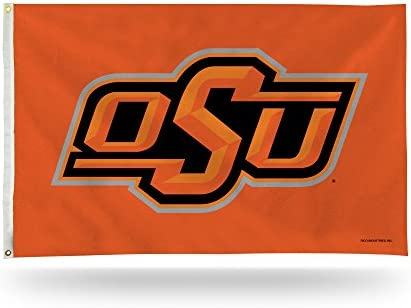 Rico Industries NCAA Oklahoma State Cowboys 3 Foot by 5 Foot Single Sided Banner Flag with Grommets product image