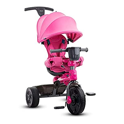 Joovy Tricycoo 4.1 Kid's Tricycle, Push Tricycle, Toddler Trike, Pink
