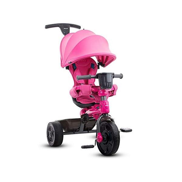 Joovy Tricycoo 4.1 Kid's Tricycle, Push Tricycle, Toddler Trike, Black -