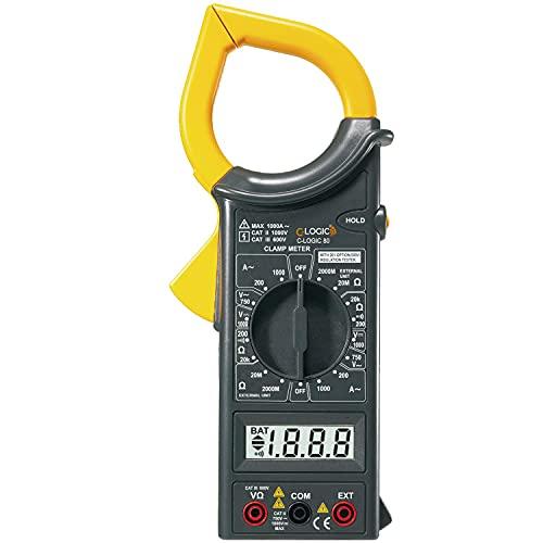 C-LOGIC 80 Pinza Amperimétrica Digital Tensión AC 750V DC 1000V Corriente AC 1000A Resistencia Aislamiento 2000MΩ 2000 Cuentas Apertura mordaza 50mm.