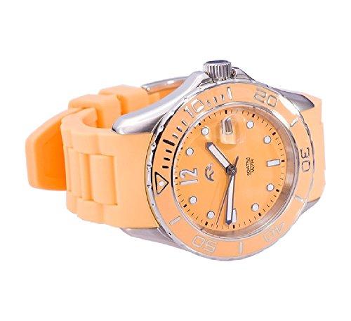 Heide Heinzendorff Einhängerpaar u007915006811–Armbanduhr Damen, Armband Silikon Farbe orange