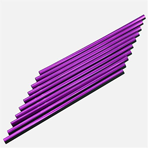 MoreChioce Outlet Strip Decoration - Tiras decorativas para rejilla de ventilación de coche, 20 cm, cromadas, moradas