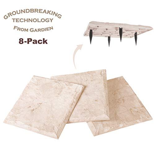 Trittsteine, 39,4 cm, natürlicher Kalkstein, Steak in den Boden - Allwetter-Dekosteine für Haus oder Garten