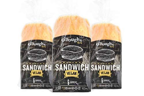 O'Dough Gluten Free Sandwich Bread, Presliced Sandwich Thins, 18 ounce [3 Packs]