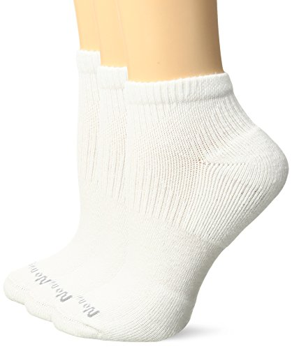 No Nonsense Women's X Sport Cushioned Ankle Sock 3-Pack, White, 4-10