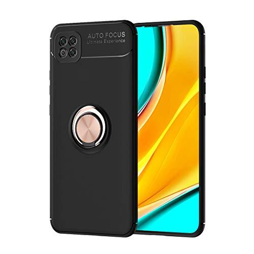 Carcasa de telefono Estuche protector para Xiaomi POCO C3 Caso TPU Soft TPU Funda a prueba de golpes 360 grados Rotating Metal Anillo Magnético Kickstand DISIPACIÓN DE CALOR DIAJE DE CAÍDA PROTECTIVO