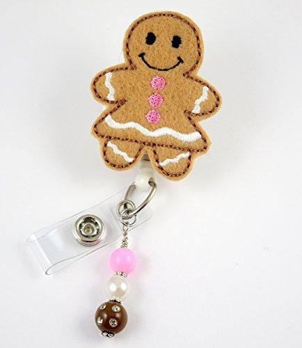 Christmas Gingerbread Girl - Nurse Badge Reel - Retractable ID Badge Holder - Nurse Badge - Badge Clip - Badge Reels - Pediatric - RN - Name Badge Holder