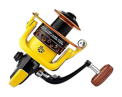 LQJin 12bb 12 Bola 1000-7000 rodamientos carretes de Pesca súper Grande Rueda de Pesca de Alta Velocidad de Alta Velocidad 5.2: 1 Metal Spinning Reel Tools (Color : 4000 Series)