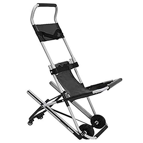 Joyfitness Klappbarer Elektrischer Treppensteig-Rollstuhl - Klettertreppen Tragbarer Elektrorollstuhl Leichter Reise-Treppenstuhl, Mit Sicherheitsgurt Und 4 Rädern, Leicht Zu Übertragen